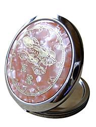 Недорогие -1шт оранжевый форма оболочки косметическое зеркало китайский стиль подарок