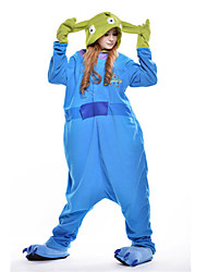 preiswerte -Kigurumi-Pyjamas Monster Blaues Monster Pyjamas-Einteiler Kostüm Polar-Fleece Blau Cosplay Für Erwachsene Tiernachtwäsche Karikatur