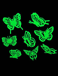 cheap -Romantic House Absorptiometric Night Lights Stickers-Butterfly