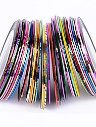 cheap -38pcs mixed colors rolls striping tape line nail art decoration sticker