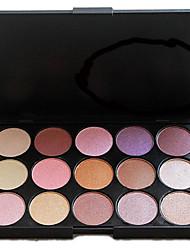 Недорогие -15 цветов Тени / Пудры Глаза Повседневный макияж / Смоки айс Составить косметический
