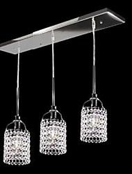 preiswerte -Max 40W Tiffany Kristall Metall Pendelleuchten Wohnzimmer