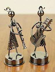 Недорогие -Enkay 2 шт ручной металл музыкант модель игрушки для украшения стола или подарка (Random Style)