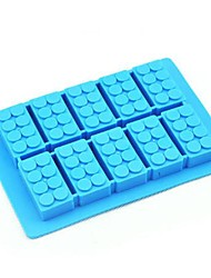 cheap -Toy Brick Mould Silicone Ice Cubes Random color (6.52x4.52x0.68 inch)