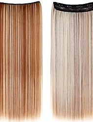 cheap -24 Inch Long Synthetic Straight Clip In Hair Extensions with 5 Clips - 24 Colors Available