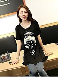 Women's Black T-shirt Short Sleeve