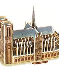 Недорогие -3D пазлы Деревянные пазлы Бумажная модель Знаменитое здание Бумага Мальчики Девочки Игрушки Подарок