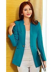 manga larga sencilla ruilifang equipado chaqueta larga traje azul