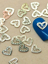 "200PCS ""Your Heart in Mine"" Golden Slice Metal Nail Art Decoration"
