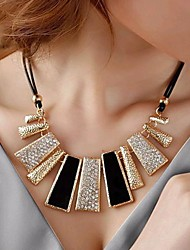 Недорогие -Пряди Ожерелья Геометрической формы Искусственный бриллиант Сплав бижутерия Мода Pоскошные ювелирные изделия Бижутерия Назначение Свадьба