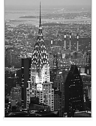 cheap -Classic Black And White Chrysler Building Roller Shade
