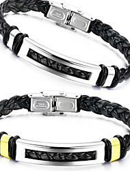 cheap -Men's Leather Bracelet - Leather Unique Design, Fashion Bracelet Silver / Golden For Christmas Gifts / Wedding / Party