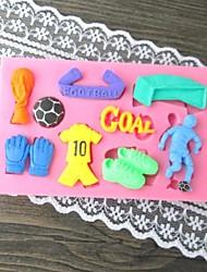 футбол помадной торт плесень, l10cm * w6.2cm * h1cm см-299