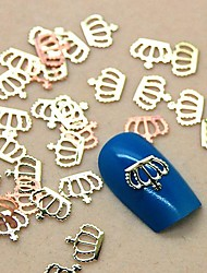 economico -200pcs forma di corona in metallo dorato fetta del chiodo decorazione di arte