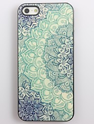 Blue Lotus Pattern Aluminum Hard Case for iPhone 5/5S