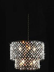 povoljno -QINGMING® Privjesak Svjetla Ambient Light - Crystal, Bubanj Modern / Comtemporary, 110-120V 220-240V Bulb not included