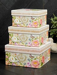 Nice Design fiore di carta Carta di Primavera Favor Box (Set di 3)