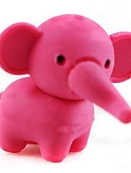 gomme en forme d'éléphant jolie amovible (couleur aléatoire x 2 pcs)
