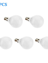 cheap -3W E14 / G5 LED Globe Bulbs G45 32 SMD 3022 480 lm Warm White AC 220-240 V 5 pcs