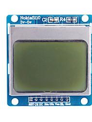 """economico -1.6 """"nokia modulo 5110 lcd blu retroilluminato per (per arduino)"""