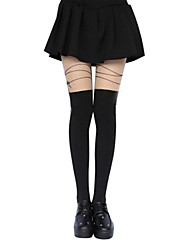 cheap -Thigh High Socks Socks / Long Stockings Classic Lolita Dress Lolita Lolita Women's Lolita Accessories Print Flower Stockings Polyester