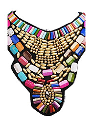 cheap -Women's Statement Necklace / Bib necklace - Resin Fashion, Colorful, Festival / Holiday Gold Necklace For Party, Special Occasion, Birthday