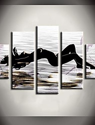cheap -Oil Painting Hand Painted - Nude Canvas Five Panels
