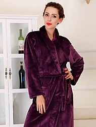 Bath Robe Purple,Solid High Quality 100% Coral Fleece Towel
