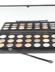 Недорогие -Профессиональный 21 Цвет Shimmer & Matte Eyeshadow палитры макияжа с зеркалом и губки аппликатора