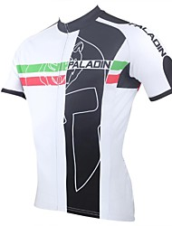 cheap -ILPALADINO Cycling Jersey Men's Short Sleeves Bike Jersey Top Quick Dry Ultraviolet Resistant Breathable Polyester 100% Polyester Stripe