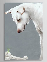 cheap -Hand-Painted Animal One Panel Canvas Oil Painting For Home Decoration