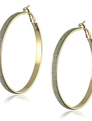 baratos -Alloy big hoop fashion earrings casamento festa elegante estilo feminino