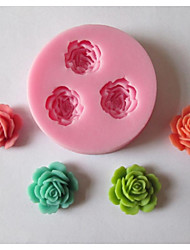 cheap -Mold Flower For Chocolate For Cookie For Cake Silicone Eco-friendly DIY Holiday