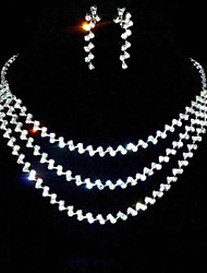 cheap -Women's Silver Jewelry Set - Rhinestone Include Silver For Wedding Party