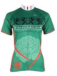 ILPALADINO Cykeltrøje Dame Kortærmet Cykel Trøje Toppe Cykeltøj Hurtigtørrende Ultraviolet Resistent Åndbart Natur & landskab Cykling /