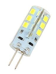 baratos -180lm G4 Luminárias de LED  Duplo-Pin 24 Contas LED SMD 2835 Branco Frio 12V / # / CE / RoHs