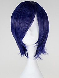 cheap -Cosplay Wigs Tokyo Ghoul Kirishima Touka Blue Short Anime Cosplay Wigs 32 CM Heat Resistant Fiber Female