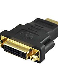 hauteur dvi de vitesse Femelle à HDMI adaptateurs noirs mâles pour ordinateur TV