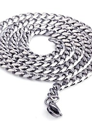 cheap -Men's Stainless Steel Chain Necklace / Necklace - Casual / Simple Style / Rock Silver Necklace For Christmas Gifts / Gift / Men's