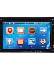 Недорогие -6.2 дюймовый 2 Din Windows CE 6.0 / Windows CE В-Dash DVD-плеер Встроенный Bluetooth / GPS / iPod для Поддержка / RDS / Контроль на руле / 3G (WCDMA) / Выход для сабвуфера / Игры