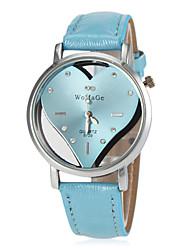 cheap -Women's Wrist Watch Hot Sale PU Band Heart shape / Fashion Black / White / Blue