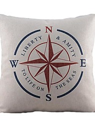 Cotton/Linen Pillow Cover , Nautical Retro