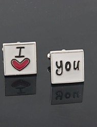 "Men's Party/Evening Groom/Groomsman ""I Love You"" Brass Cufflinks"