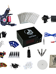 abordables -1 Gun Complete No Ink Tattoo Kit with Carbon Steel Casting Tattoo Machine