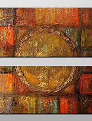 cheap -Oil Painting Hand Painted - Abstract Classic Traditional Canvas