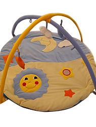 Недорогие -мягкая ползком играть мат детский с узором из луны и солнца