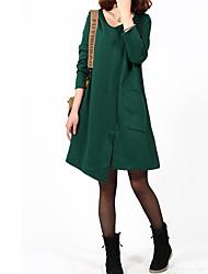 povoljno -srastanje jednobojnu haljinu