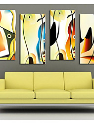 cheap -Stretched Canvas Print Canvas Set Abstract Fantasy Modern Four Panels Vertical Print Wall Decor Home Decoration