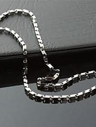Недорогие -мода твердого титана стали ожерелья цепи мужские