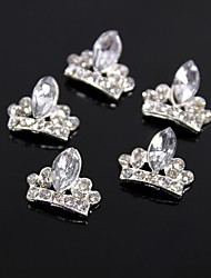 10pcs Glitter Crown Large Crystal Rhinestone 3D Alloy Nail Art Decoration